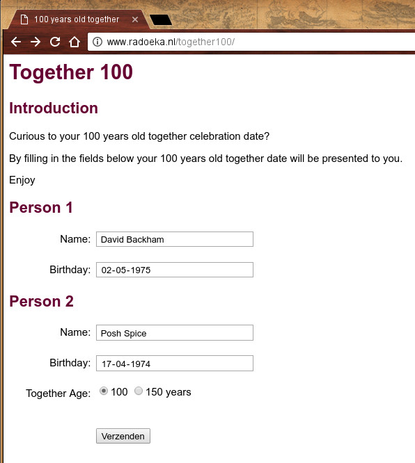 100 year together form