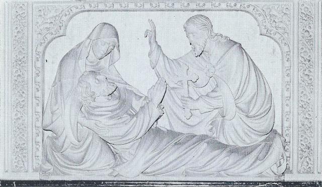 Fragment van het Jozef-altaar, voorstellende de dood van St. Jozef