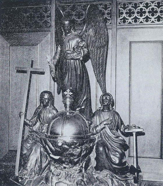 De doopvont, een kunststuk van E. F. Georges, fecit 1860